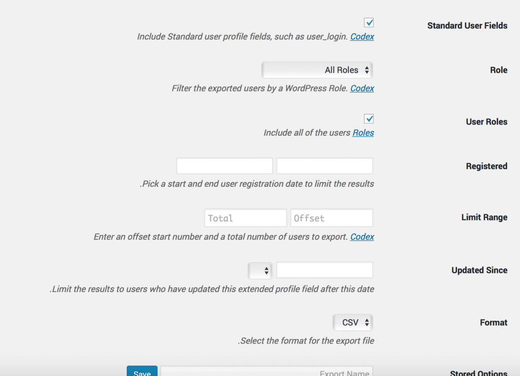 چگونه با یک افزونه وردپرس از اطلاعات کاربران سایت خروجی بگیریم؟