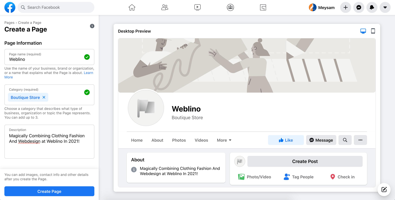 تگ خرید   ساخت پیج فیسبوک